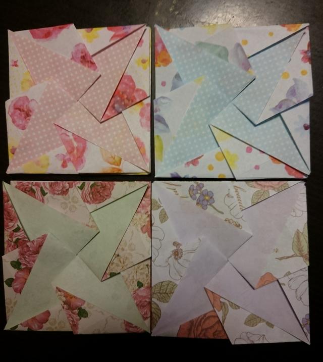 折り紙コースター