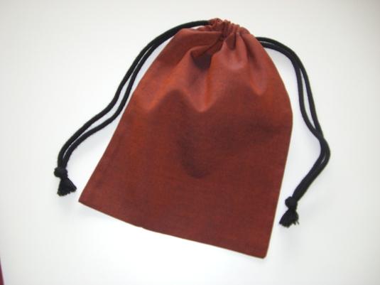 綿着物地で作った巾着袋