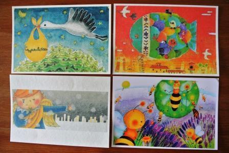 動物&天使シリーズ3 ポストカードセット