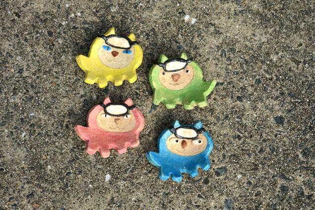 海女猫の豆皿 【2014】
