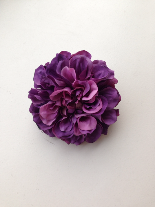 牡丹髪飾り(紫)