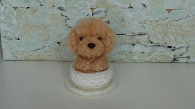 羊毛 トイプードルちゃん(カップいり)