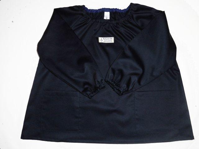 長袖スモック・110〜120サイズ/濃紺・...