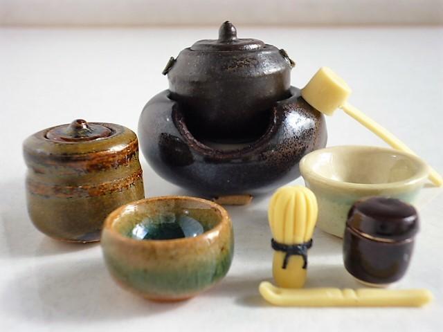 ミニチュア☆陶器 茶道具 黒風炉