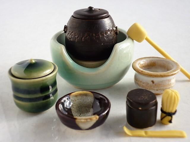 ミニチュア☆陶器 茶道具 風炉揃え ...