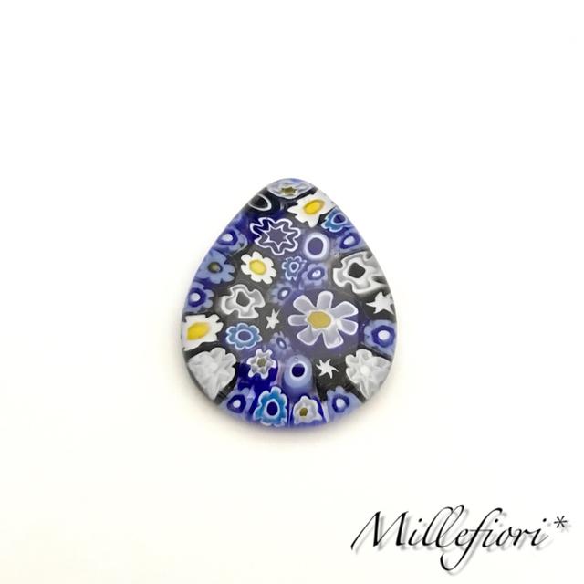 【藍】セミオーダー★ベネチアンガラスのアクセサリー