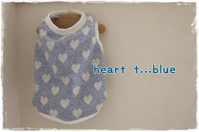 サイズオーダー(胴40丈28まで)heart.t.blue