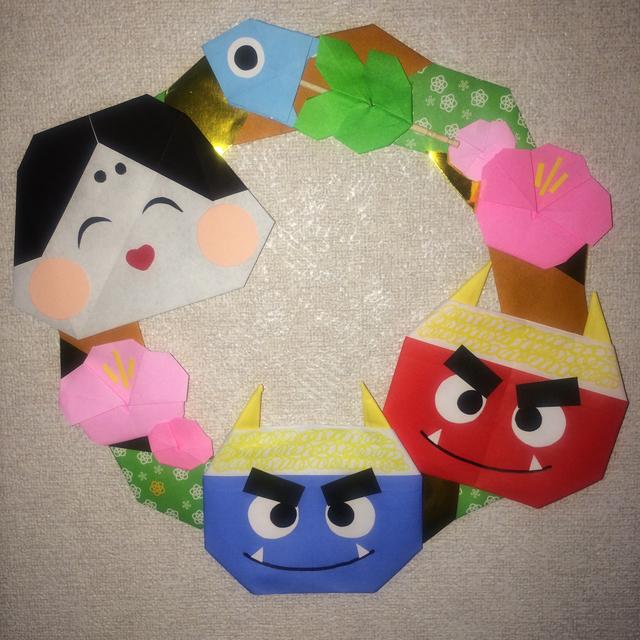 紙 折り紙:折り紙 節分-minne.com