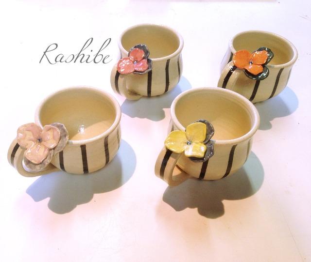 Flower マグカップ 〜ビオラ〜