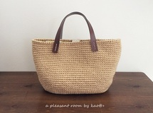 natural color tesage bag (麻ひもバッグ)