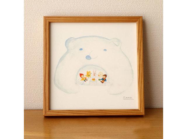 額入りポスター「くまくら」◇正方形20c...