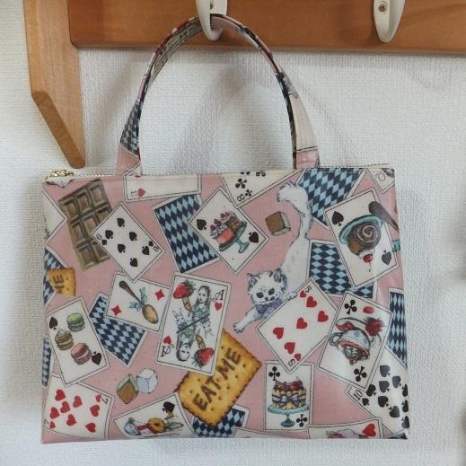 アリスのトランプのビニコミニバッグ