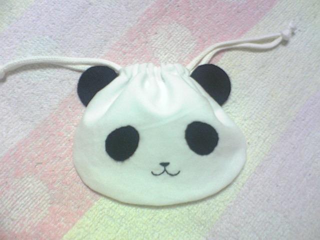 パンダちゃん手縫い巾着