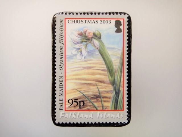フォークランド 切手ブローチ2146