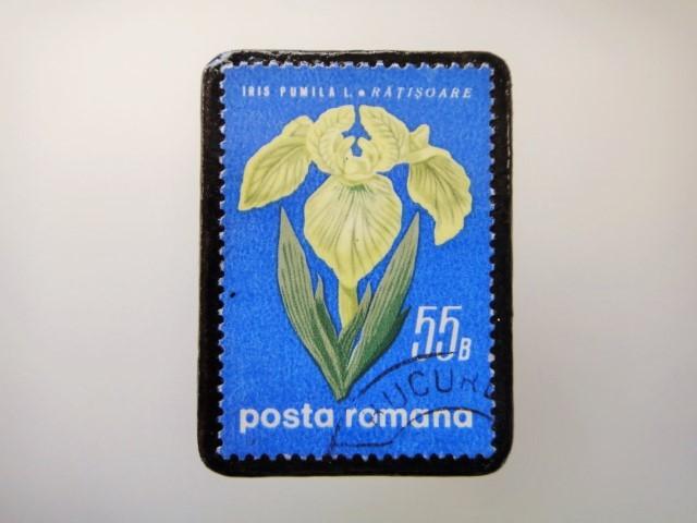 ルーマニア 花切手ブローチ2147