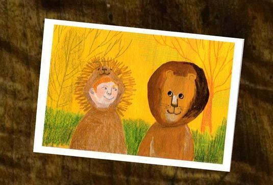 ライオンッ(ポストカード2枚セット)006