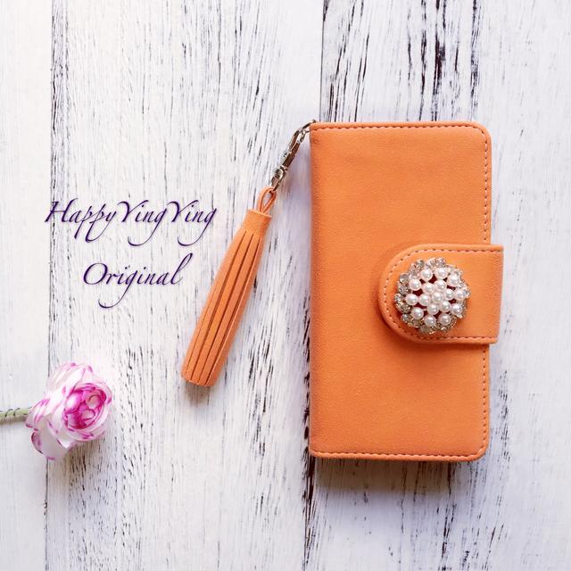 iphone7 iphone6S iphone6★スエード橙...