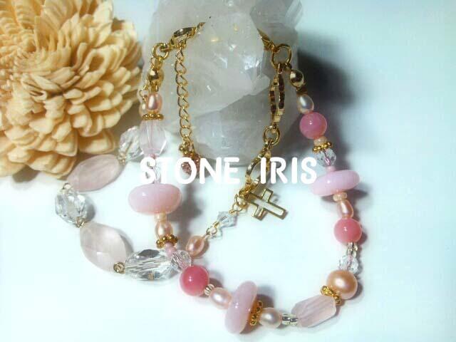 ◆ローズクォーツ&ピンクオパールの愛...