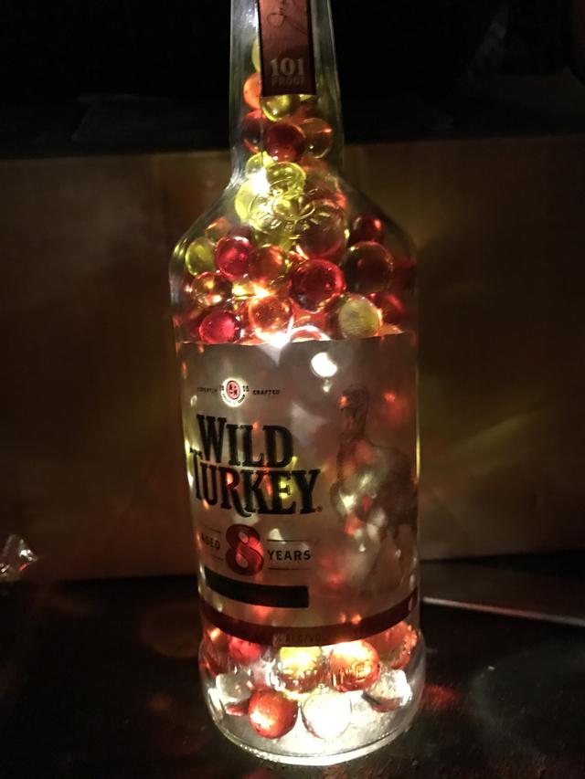 ボトルランプ  ワイルドターキー瓶