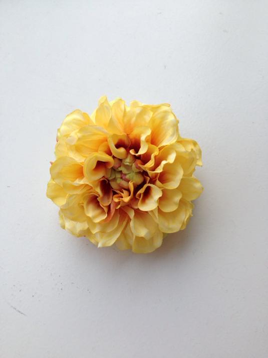 牡丹髪飾り(黄色)