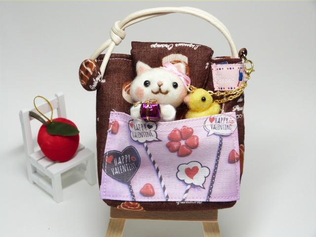 HAPPY VALENTINE 白猫ちゃんのミニポーチ