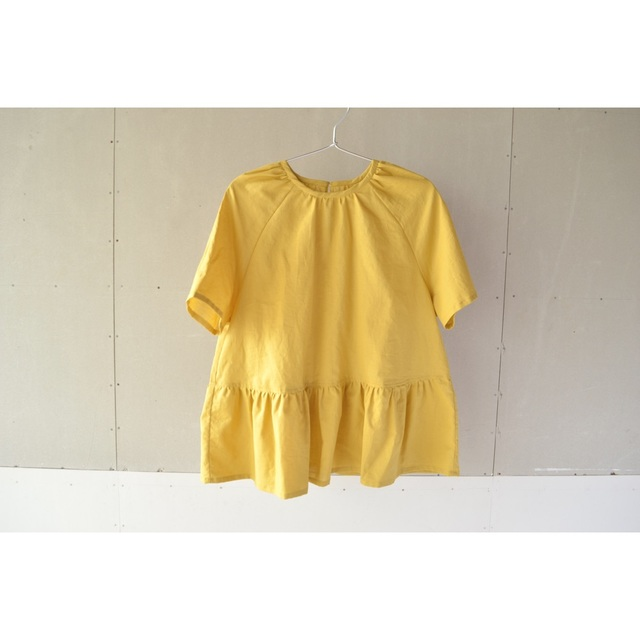 RAGLAN GATHER BLOUSE MUSTARD【SIZE:M】