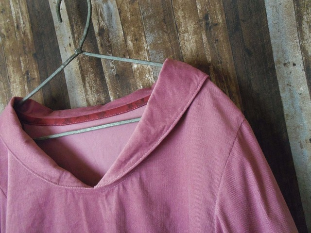 Lsize 小さなセーラー襟のシャツ 九分袖...