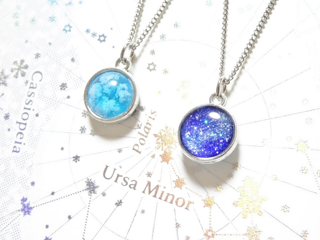 ☆銀河と青い空のネックレス☆