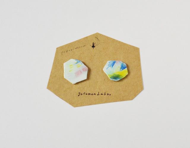 【paper moon】紙でつくったピアス(syoka)