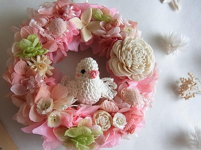 春色ことりのミニリース ピンクグリーン