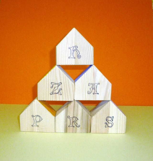 アルファベットのお家