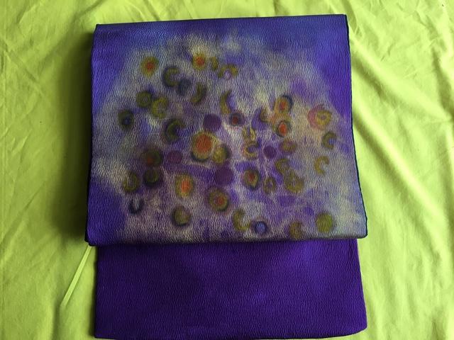 名古屋帯・紫色