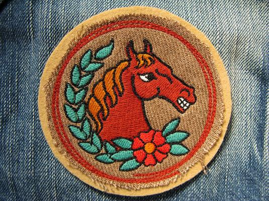 『WILD HORSE』FELT×LINEN 刺繍ワッペン