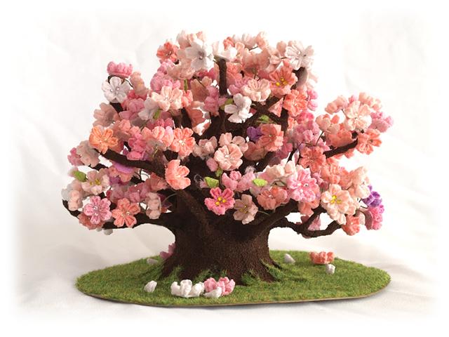 つまみ細工 桜の木