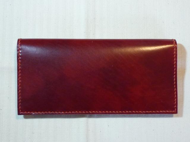 ハンドメイド『ボルドーの革の長財布』