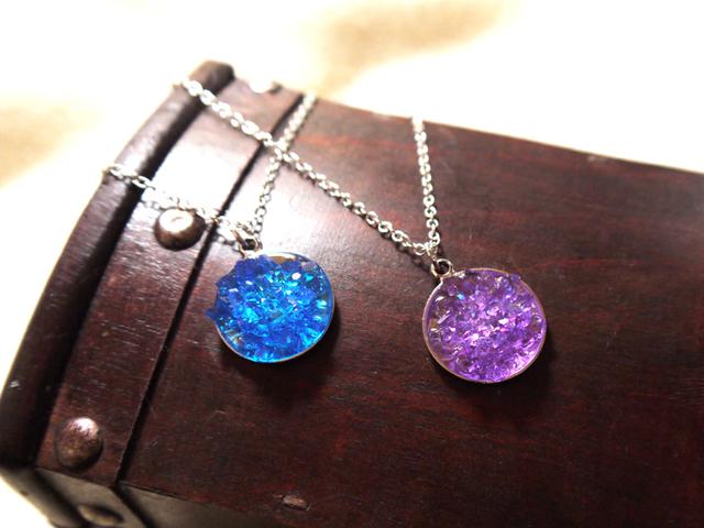 虹の泉の鉱石 ペンダント
