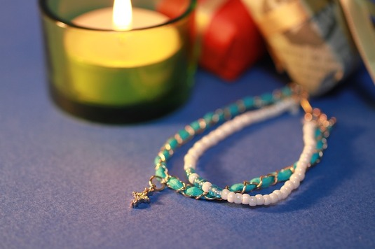 Turquoise Blue Cross