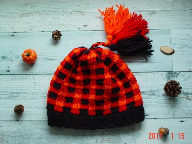 ☆彡3色タッセル付キッズニット帽子