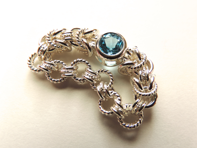 『 Radiant blue ( inner ) 』Ring by S...