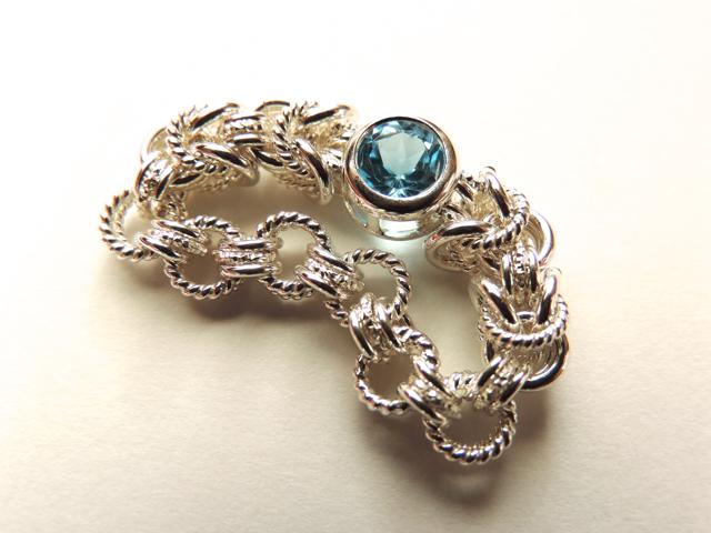 『 Radiant blue ( inner ) 』Ring by S...