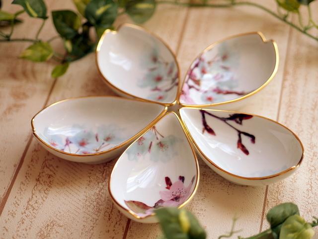 桜花びらプレート 5枚セット