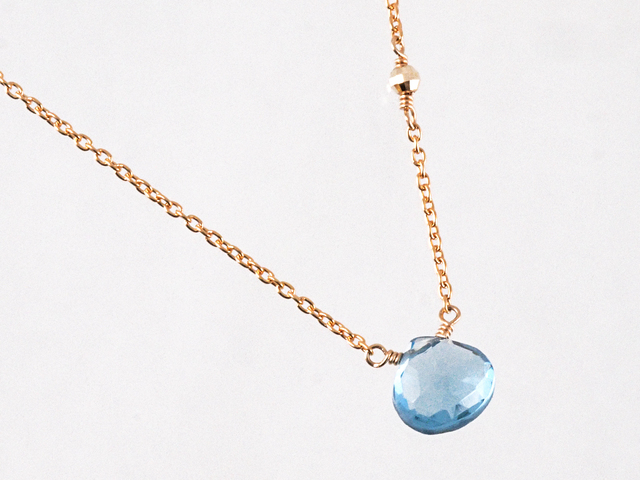 14KGF London Blue Topaz Necklace