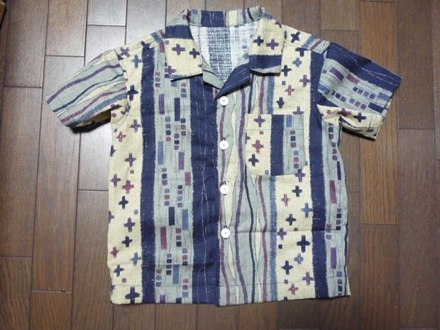 和モダンの生地でアロハシャツ  120センチ用
