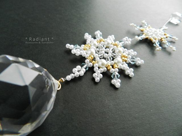 【送料無料】雪の結晶サンキャッチャー