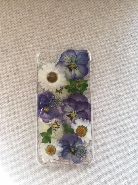 iphone7/6/6S  ナチュラルな押し花のケース