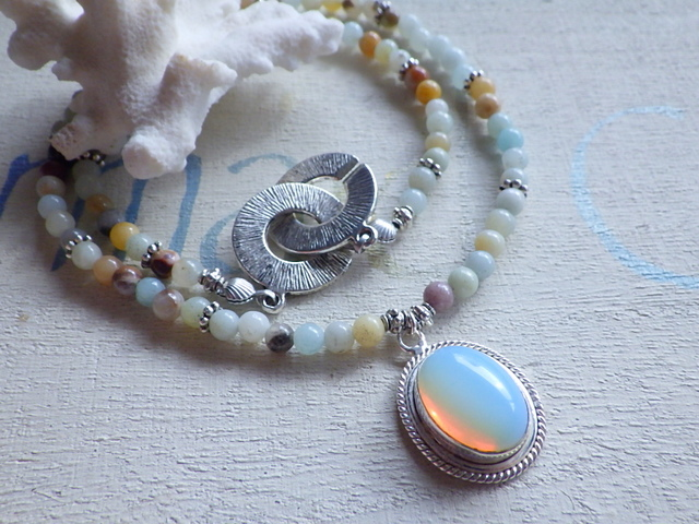 Sea Opal Necklace