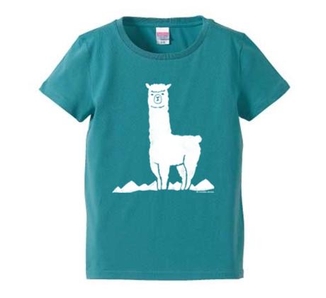 アルパカTシャツ(レディース/セージブルー/Mサイズ)