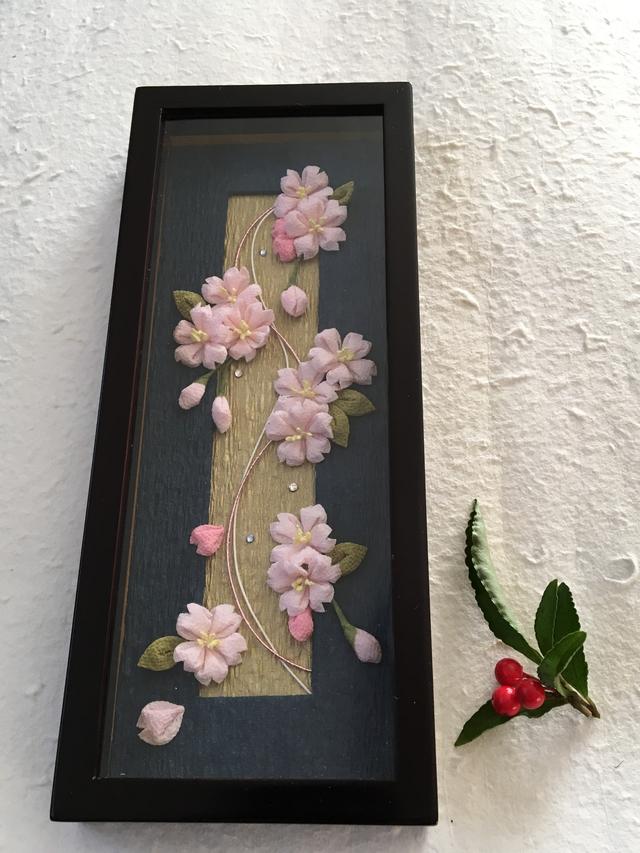 つまみ細工(アレンジつまみ)「桜・さくら」