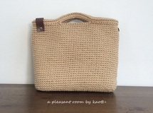 natural square bag(麻ひもバッグ)