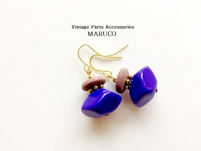 23-21  PurpleBLUE Vintage*ピアスイヤ...